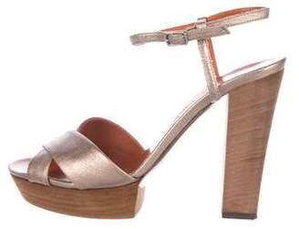 Lanvin Leather High-Heel Sandals