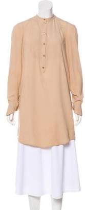 Alexander McQueen Long Sleeve Silk Tunic