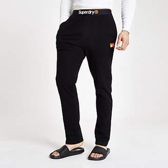 River Island Superdry black loungewear trousers