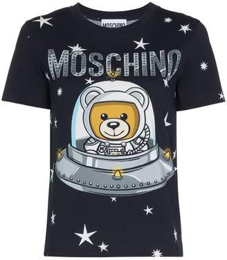 Moschino Space bear teddy logo cotton t-shirt