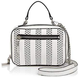MILLY Perforated Stripe Mini Crossbody $198 thestylecure.com