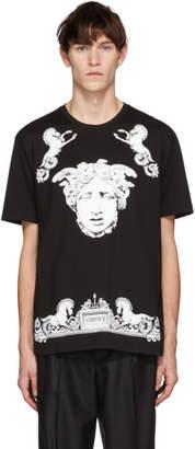 Versace Black Medusa Horses T-Shirt