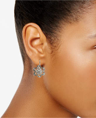 Betsey Johnson Crystal Flower Earrings