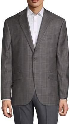 Jack Victor Men's Plaid Wool Sportcoat