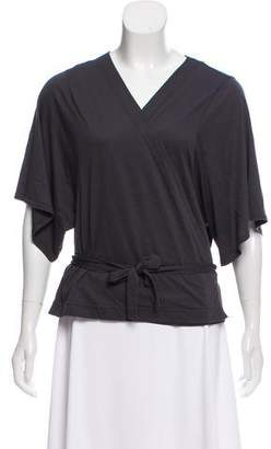 Rodebjer Short Sleeve Wrap Top