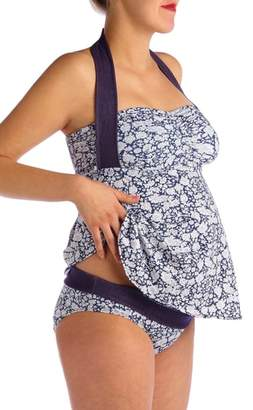 Pez D'or Hamptons Ditzy Floral Two-Piece Maternity Swimsuit
