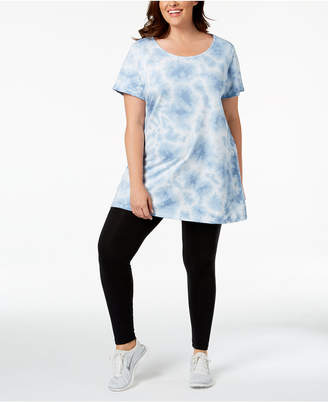 Macy's Ideology Plus Size Printed Tunic, Created for