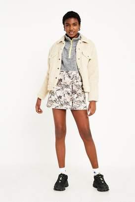 BDG Woodland Print Denim Mini Skirt