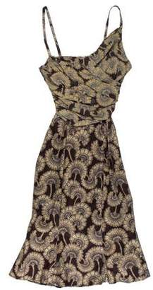 Just Cavalli Mini Floral Print Dress