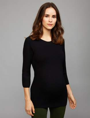 A Pea in the Pod Back Interest Maternity Sweater