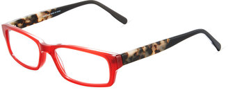 A. J. Morgan Now Two-Tone Rectangular Acetate Readers, Black $36 thestylecure.com