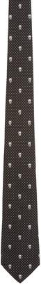 Alexander McQueen Black Polka Dot & Skull Tie $165 thestylecure.com