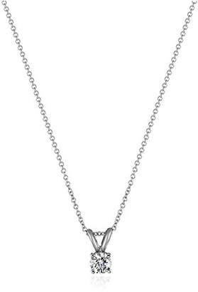 IGI Certified 18k Gold Round-Cut Diamond Pendant Necklace (1/2cttw