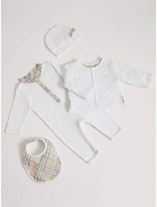 Burberry Cotton Four-piece Baby Gift Set
