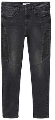Violeta BY MANGO Super slim-fit Biker jeans