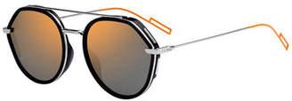 Christian Dior Men's Round Metal/Acetate Sunglasses with Double Bridge