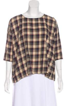 The Great Oversize Plaid Top