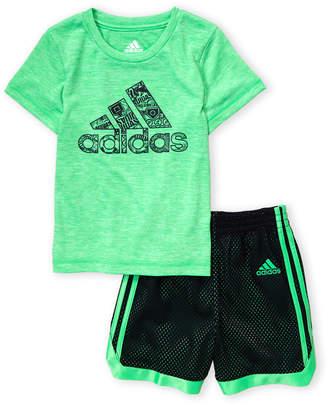 adidas Infant Boys) Two-Piece Tee & Shorts Set