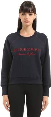 Burberry Logo Embroidered Cotton Sweatshirt