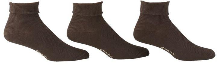 Chaps 3-pk. triple-cuff ankle socks