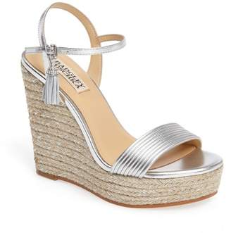 Badgley Mischka Trace Strappy Platform Wedge Sandal