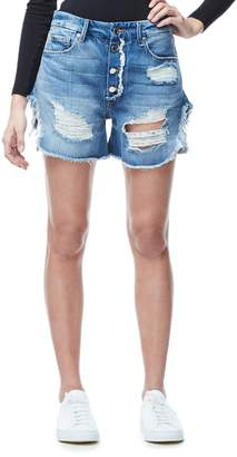 Good American High Waist Denim Boyfriend Shorts