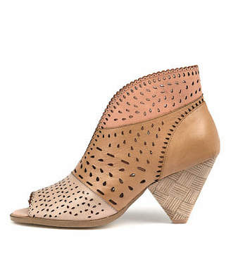 Django & Juliette New Oshi Nude Tan Blush Womens Shoes Casual Boots Ankle