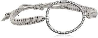 Tai Silver Cubic Zirconia Oval Bracelet