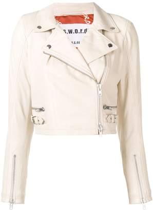 S.W.O.R.D 6.6.44 zipped cuff biker jacket