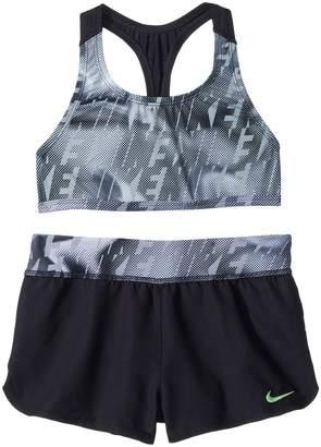 Nike Amp Axis Racerback Sport Top Short Set Girl's Swimwear Sets