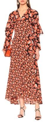Diane von Furstenberg Alice floral silk wrap dress