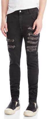 Army Of Me Frayed Zipper Detail Jeans