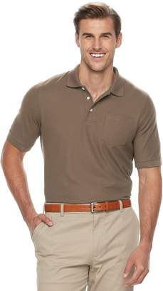 Croft & Barrow Big & Tall Classic-Fit Easy-Care Pique Performance Pocket Polo
