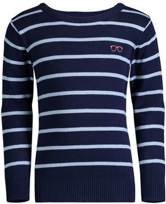 Andy & Evan Striped Cotton Sweater, Size 8-14