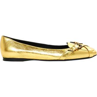 Bottega Veneta Gold Leather Ballet flats