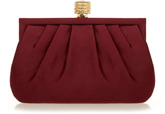 Wilbur & Gussie Lily Colosseum Burgundy Silk Clutch Bag