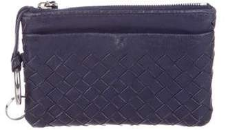 Bottega Veneta Intrecciato Leather Zip Pouch
