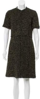 Michael Kors Tweed Knee-Length Dress Black Tweed Knee-Length Dress