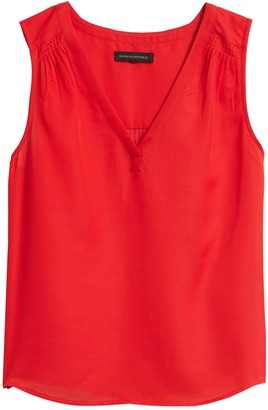Banana Republic Cotton-Silk Sleeveless Top