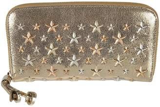 Jimmy Choo Stars Plaque Zip Around Wallet
