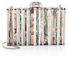 Judith Leiber Couture Couture Women's Tall Slender Shell Striped Abalone Clutch