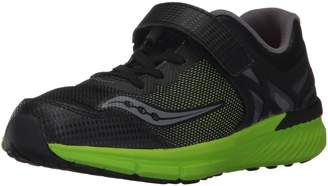 Saucony Boy's Velocity A/C Running Shoes, Black/Green