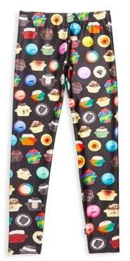 Terez Girl's Cupcake-Print Leggings