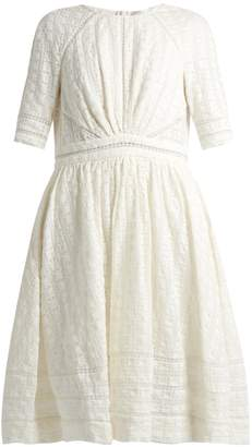 ZIMMERMANN Roza embroidered cotton and silk-blend dress $490 thestylecure.com
