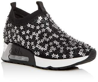 Ash Women's Lightning Star Embellished Slip-On Wedge Sneakers DDaZj0