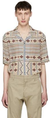 Ports 1961 Beige Multi Embroidered Shirt