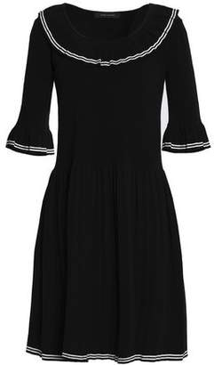 Marc Jacobs Woman Pleated Stretch-knit Cotton-blend Dress Black Size L Marc Jacobs uFaApd