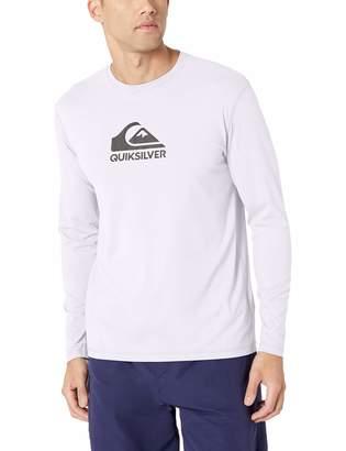 Quiksilver Men's Solid Streak Long Sleeve Rashguard UPF 50+ Sun Protection