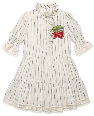 Gucci Children's jacquard stripe dress