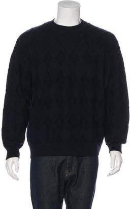 Salvatore Ferragamo Wool Crew Neck Jacquard Sweater